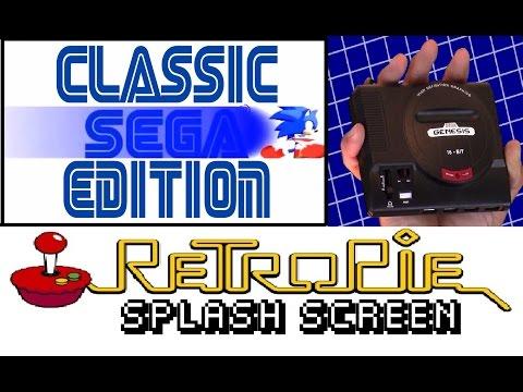 Retropie custom splash screen intro for Mini Sega Genesis console thumbnail