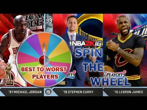 SPIN THE WHEEL OF BEST TO WORST PLAYERS DRAFT- NBA 2K16 MyTeam
