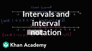 Introduction To Interval Notation