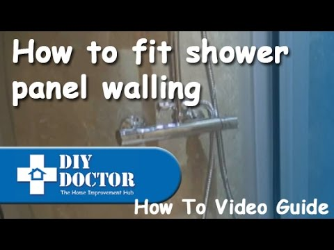 Fitting Shower Panel Boards Youtube
