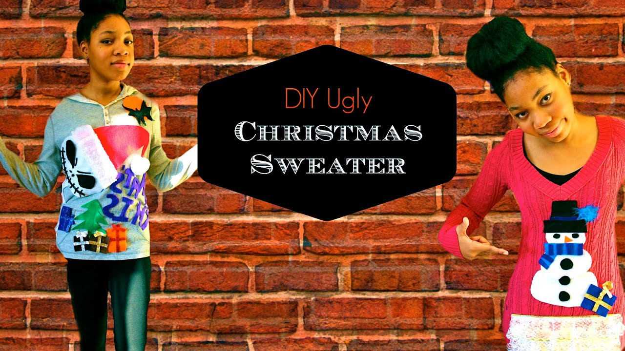 Diy Ugly Christmas Sweaters Jack Skellington Frosty The Snowman