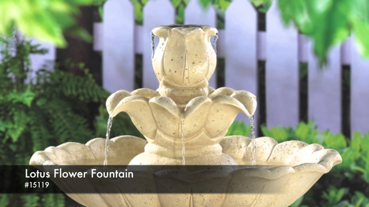 15119 lotus flower fountain youtube 15119 lotus flower fountain izmirmasajfo