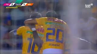 Gol de E. Valencia | Tigres UANL 3 - 1 Necaxa | LIGA Bancomer MX - Clausura 2019 - Jornada 7