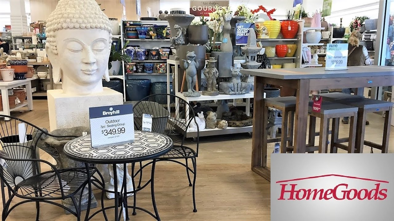 home goods outdoor patio furniture summer home decor shop with me shopping store walk through 4k