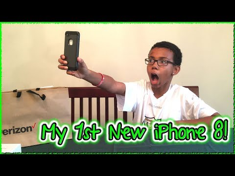 Unboxing iPhone 8 - My 1st New iPhone!