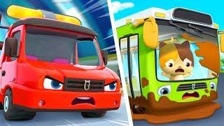 タイヤはクルクル☆ようこそバスへ | バスのうた | のりものの歌 | はたらく車 | 赤ちゃんが喜ぶ歌 | 子供の歌 | 童謡 | アニメ | 動画 | ベビーバス| BabyBus