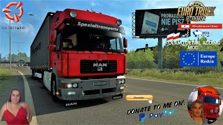 "Euro Truck Simulator 2 (1.39)   MAN F2000 Commander v5.1 by Nikola Trucks ""Best Truck"" Krone Trailer CoolLiner by TZ Express Poland Poland-Detail-Adding Map Animated gates in companies v3.7 [Schumi] Real Company Logo v1.0 [Schumi] Company addon v1.9 [Schumi] Trailers and Cargo Pack by Jazzycat Motorcycle Traffic Pack by Jazzycat FMOD ON and Open Windows Naturalux Graphics and Weather Spring Graphics/Weather v3.6 (1.38) by Grimes Test Gameplay ITA Europe Reskin v1.0 + DLC's & Mods What's new:: ???? 1. Full rebuild chassis. Added many new details. Fixed bugs & added new tuning accessories; ???? 2. Full rebuild cabin & added new tuning accessories; ???? 3. Added Schmitz SKO reefer trailer; ???? 4. Added new real skins; ???? 5. Many-many minor changes; ???? 6. Added new own wheels based on Turbosquid 3D. https://gumroad.com/nikola1973?sort=page_layout#ilnQZ  For Donation and Support my Channel https://paypal.me/isabellavanelli?loc...  SCS Software News Iberian Peninsula Spain and Portugal Map DLC Planner...2020 https://www.youtube.com/watch?v=NtKeP... Euro Truck Simulator 2 Iveco S-Way 2020 https://www.youtube.com/watch?v=980Xd... Euro Truck Simulator 2 MAN TGX 2020 v0.5 by HBB Store https://www.youtube.com/watch?v=HTd79...  All my mods I use in the video Promods map v2.51 https://www.promods.net/setup.php Traffic mods by Jazzycat https://sharemods.com/hh8z6h9ym82b/pa... https://sharemods.com/lpqs4mjuw3h6/ai... https://ets2.lt/en/painted-bdf-traffi... https://sharemods.com/eehcavh87tz9/bu... Graphics mods https://download.nlmod.net/ https://grimesmods.wordpress.com/2017... Europe Reskin https://forum.scssoft.com/viewtopic.p... Trailers pack https://ets2.lt/en/trailers-and-cargo... https://tzexpress.cz/ Others mods Company addon v1.8 [Schumi] https://forum.scssoft.com/viewtopic.p... Real Company Logo v1.3 [Schumi] https://forum.scssoft.com/viewtopic.p... Animated gates in companies v3.8 [Schumi https://forum.scssoft.com/viewtopic.p...  #TruckAtHome #covid19italia Euro Truck Simulator 2    Road to the Black Sea (DLC)    Beyond the Baltic Sea (DLC)   Vive la France (DLC)    Scandinavia (DLC)    Bella Italia (DLC)   Special Transport (DLC)   Cargo Bundle (DLC)   Vive la France (DLC)    Bella Italia (DLC)    Baltic Sea (DLC) Iberia (DLC)   American Truck Simulator New Mexico (DLC) Oregon (DLC) Washington (DLC) Utah (DLC) Idaho (DLC) Colorado (DLC)  My favorite Youtubers Neranjana Wijesinghe https://www.youtube.com/c/NeranjanaWi... H&AHoney Gaming BG https://www.youtube.com/c/HAHoneyGaming Fox On The Box https://www.youtube.com/c/FoxOnTheBox ZN GAMER https://www.youtube.com/channel/UCUSQ... Kapitan Kriechbaum https://www.youtube.com/channel/UCrEQ... Darwen https://www.youtube.com/channel/UCyK8... SimülasyonTÜRK https://www.youtube.com/user/simulasy... Squirrel https://www.youtube.com/user/DaSquirr... Toast https://www.youtube.com/channel/UCy2R... Jeff Favignano https://www.youtube.com/user/jfavignano     I love you my friends Sexy truck driver test and gameplay ITA  Support me please thanks Support me economically at the mail vanelli.isabella@gmail.com  Roadhunter Trailers Heavy Cargo  http://roadhunter-z3d.de.tl/ SCS Software Merchandise E-Shop https://eshop.scssoft.com/  Euro Truck Simulator 2 http://store.steampowered.com/app/227... SCS software blog  http://blog.scssoft.com/  Specifiche hardware del mio PC: Intel I5 6600k 3,5ghz Dissipatore Cooler Master RR-TX3E  32GB DDR4 Memoria Kingston hyperX Fury MSI GeForce GTX 1660 ARMOR OC 6GB GDDR5 Asus Maximus VIII Ranger Gaming Cooler master Gx750 SanDisk SSD PLUS 240GB  HDD WD Blue 3.5"" 64mb SATA III 1TB Corsair Mid Tower Atx Carbide Spec-03 Xbox 360 Controller Windows 10 pro 64bit"