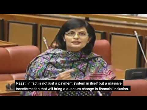 Senator Dr. Sania Nishtar's speech in the Senate about Pakistan's faster payment system