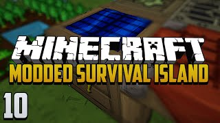 Minecraft Modded Survival Island - Ep.10 - Compact Solar Power & World Download!