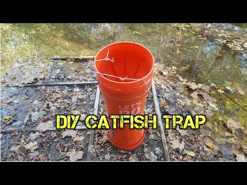 DIY Homemade Five Gallon Bucket Catfish Trap Throat