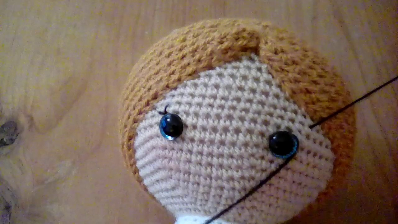 Weebee crochet doll how i sew on eyelashes youtube weebee crochet doll how i sew on eyelashes ccuart Image collections