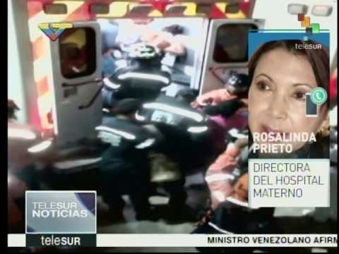 Rosalinda Prieto, directora del Materno Infantil de El Valle, entrevistada en Telesur