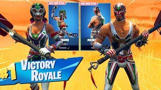 New Fortnite MASKED FURY and DYNAMO Skin Gameplay..