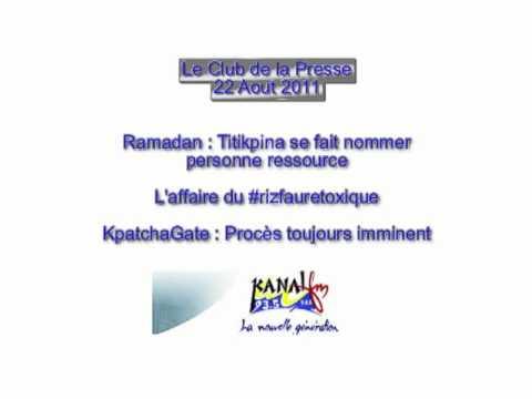 TOGO : Club de la presse sur Kanal FM [22 Aout 2011]