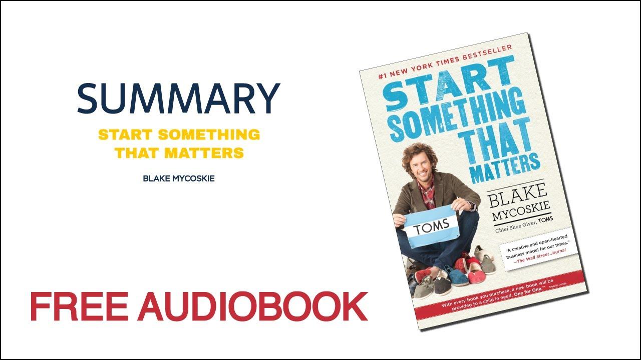 Start Something That Matters PDF Free Download