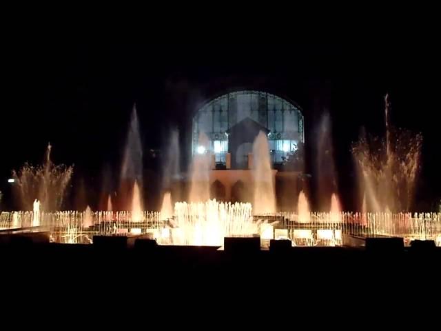 Křižíkova fontána (Krizik's fountain) - Michael Jackson - Romance - part 2, Prague -  CZ