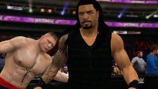 WWE 2K15 - Roman Reigns vs Brock Lesnar (Extreme Rules) 1080p HD