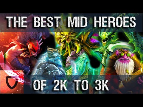 Mid Lane Heroes to Climb MMR With (2K-3K) | How To Play Dota