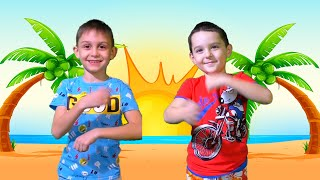 A Ram Sam Sam Song | Dance Kids Songs | Nart pretend play with sisters and brother