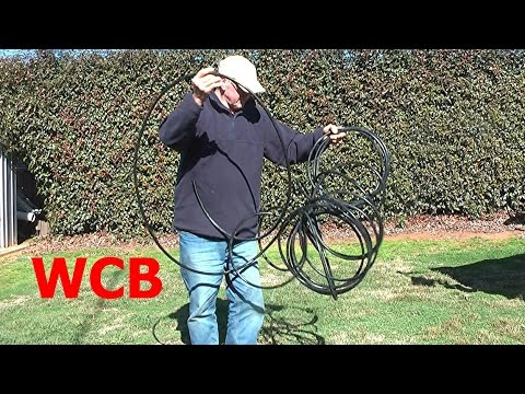 HOW TO STRAIGHTEN IRRIGATION POLY PIPE GARDEN HOSE POLYETHYLENE  PLASTIC TUBING