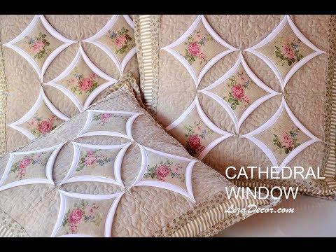 Patchwork tutorial Cathedral Window - Chrámová okna LizaDecor