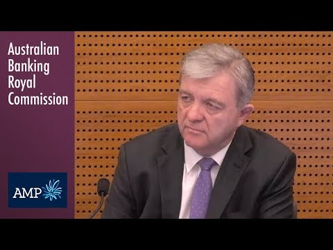 AMP's head of financial advice testifies at the Banking Royal Commission