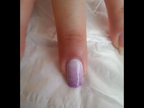 Gel Polish Purple Ombre Nail
