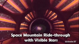 (OUTSTANDING Low Light) Space Mountain with Visible Stars Full Ride-Through 2015 - Disneyland