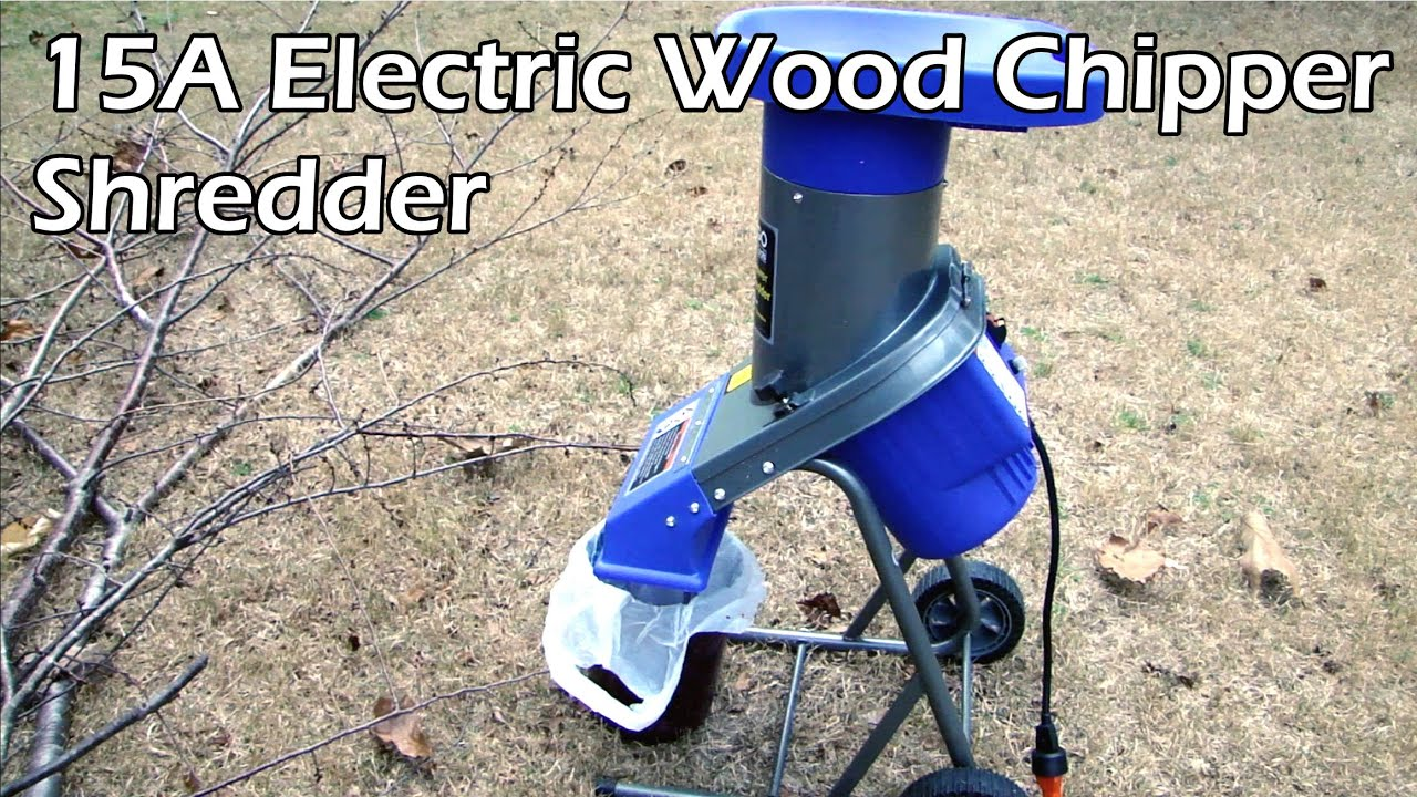 Electric 2 5 Hp 15 Amp Chipper Shredder For Branches And Limbs Part You