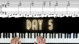 Day 5 - How to Play Jazz Voicings & Walking Bass over Blues | 30 Day Jazz-Blues Piano Challenge видео