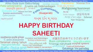 Saheeti   Languages Idiomas - Happy Birthday