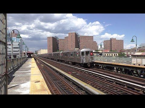 NYC Subway HD 60fps: R62 & R62A 1 Trains @ 125th Street Station (6/2/17)