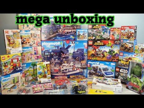 mega unboxing 5 Spielzeug auspacken seratus1 Playmobil Polizei Lego