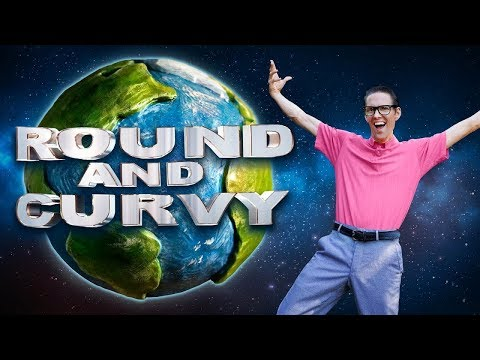 🌍 ROUND and CURVY  FLAT EARTH parody of White and Nerdy MIRROR