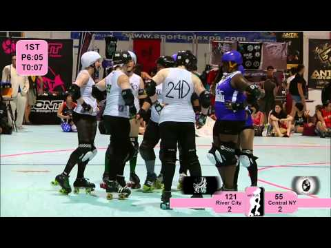 ECDX 2012: River City Rollergirls v Central NY Roller Derby
