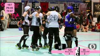 ECDX 2012: River City Rollergirls v Central NY Roller Derby