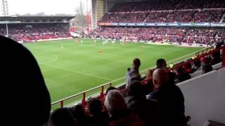 Nottingham forest fans after late equaliser vs Derby