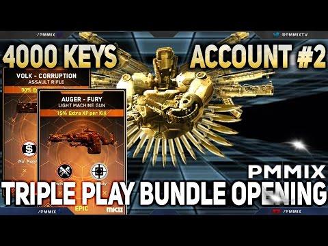 4000 Keys, All 10 Triple Play Bundles on Account #2  (Call of Duty: Infinite Warfare)