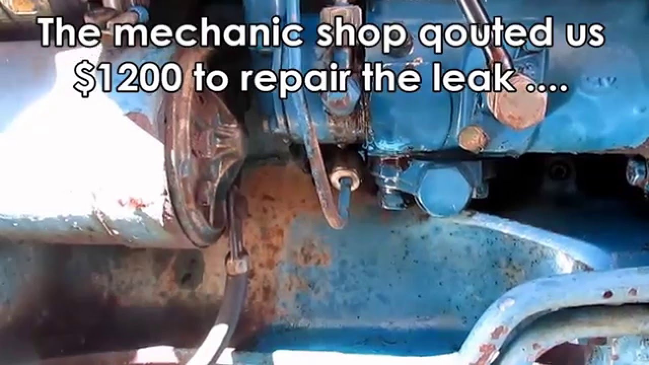 ford tractor leaking fuel pump diy temp fix [ 1280 x 720 Pixel ]