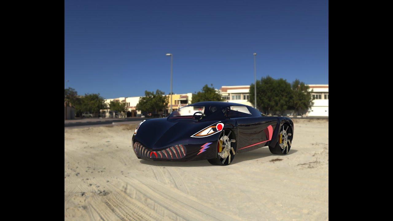 Design Of Super Sport Car Shark Inspired From Shark Solidworks Keyshot Indian Designer