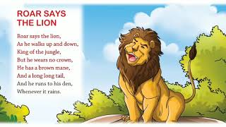 Roar Say The Lion| Nursery Rhymes & Songs for Children IAnimated I Firefly Rhymes|© By Firefly Books