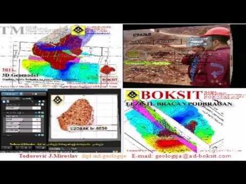 GEOLOGY Basic Info 3D Modeling (Profession) 1 Geomodel BOKSIT MILIĆI
