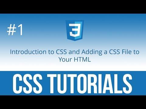 CSS Tutorials #1 Введение в CSS. Добавляем ваш первый CSS файл в HTML