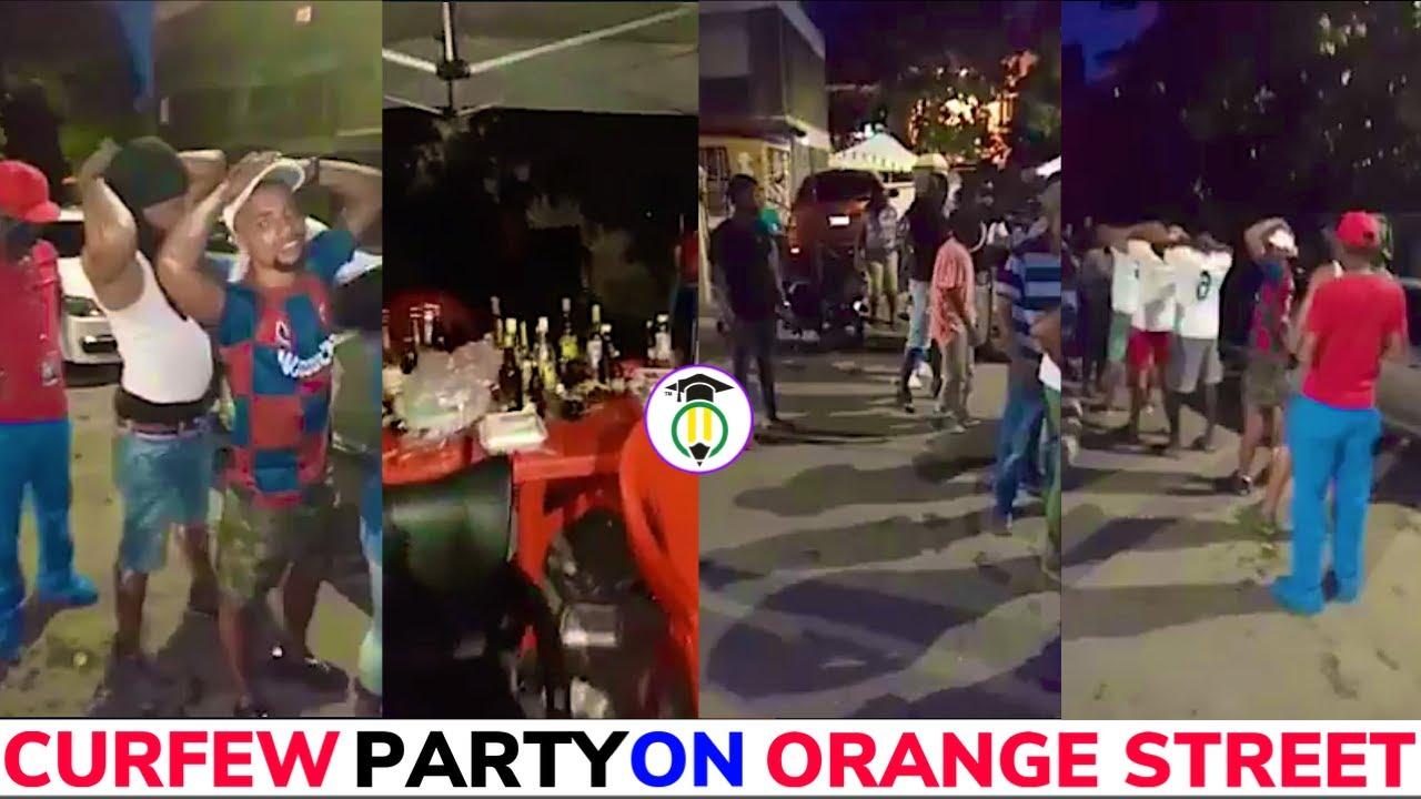 18 ARRESTED in Orange Street CURFEW party RAID
