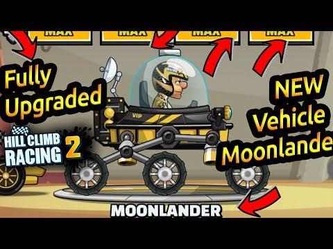Hill Climb Racing 2 New Vehicle Moonlander Fully Upgraded 🌕