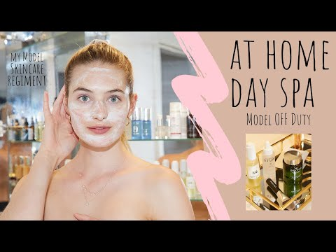 At Home Day Spa Skincare Routine | How A Model Pampers Myself During Quarantine | Sanne Vloet