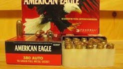 380 ACP Federal American Eagle 95 grain FMJ Ammo AE380AP at SGAmmo.com
