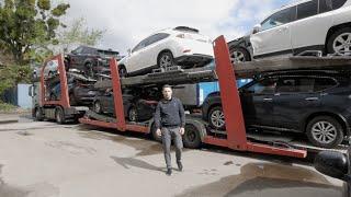 Авто из США. Приехал полный автовоз разбитых машин из Америки.