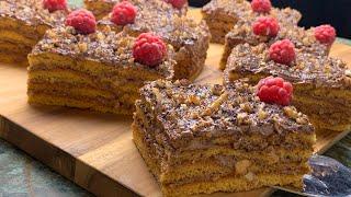 Орехово медовый торт Мягкий быстрый и ооочень вкусный торт Объедение Авторский рецепт