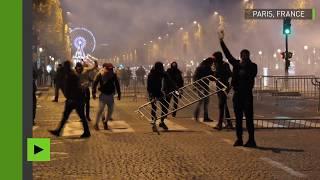 Affrontements et gaz lacrymogène lors de la manifestation contre l'esclavage en Libye à Paris